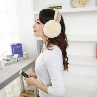 Женские и детские меховые аудио наушники