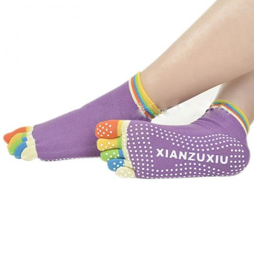 Женские носки с раздельными пальцами и антискользящей подошвой