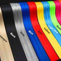 Ремни безопасности разных цветов