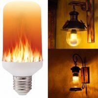 Светодиодная лампочка с эффектом имитацией огня пламени E27/E26/E14/B22/E12