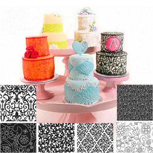 Набор текстурных ковриков для мастики, выпечки 6 шт.