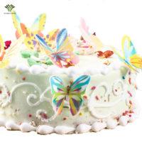 Пищевой декор для торта съедобные Бабочки 60 шт.