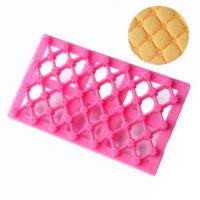 Кондитерский текстурный штамп сетка с цветами для торта