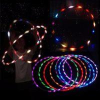 Светящийся обруч хулахуп для танца 90 см