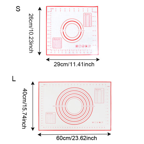 Силиконовый коврик с разметкой для раскатки теста, выпечки