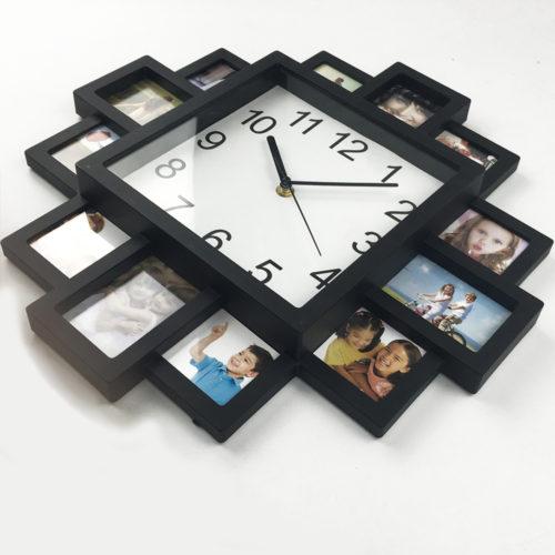 Настенные кварцевые часы с фоторамками