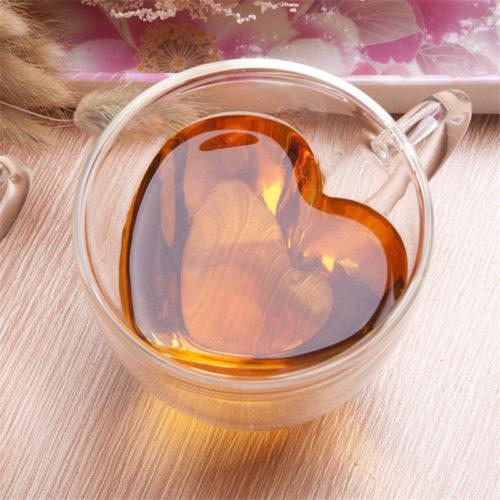 Кружка чашка с двойными стенками для влюбленных Сердце