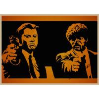 Постеры по мотивам фильма Криминальное чтиво