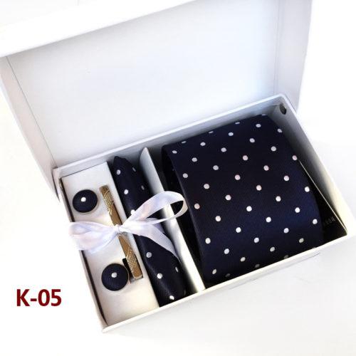Мужской галстук 8 см, платок для нагрудного кармана костюма, запонки и булавки в подарочном наборе