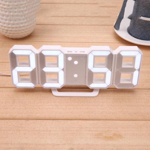 Цифровые светодиодные настенные и настольные часы дисплей с функцией будильника