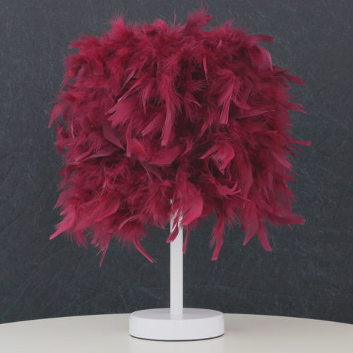 Настольная декоративная светодиодная лампа с перьями