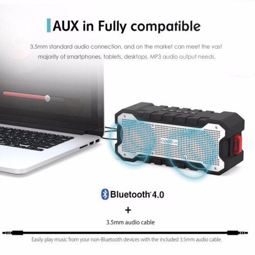 CRDC 4.0 Портативная беспроводная HI-FI Bluetooth колонка динамик с усиленными басами