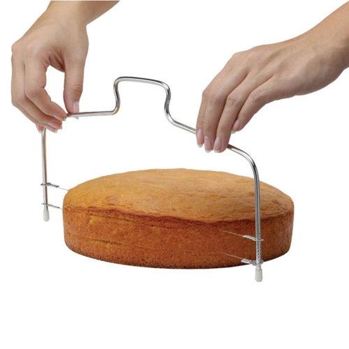 Кондитерская двойная нож-струна для нарезки бисквита