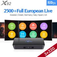 Android ТВ смарт приставка X92 3GB 32GB