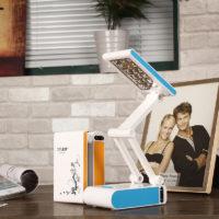 Светодиодный складной настольный светильник лампа с сенсорным управлением 400 мАч для чтения