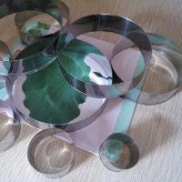 Круглые металлические формы из нержавеющей стали для выпечки 9 шт.