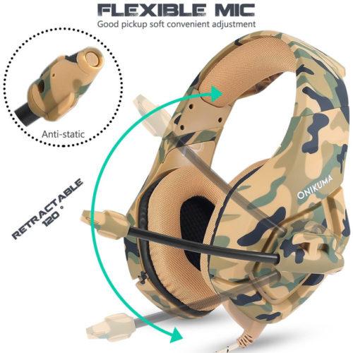 Onikuma K1 камуфляжные наушники гарнитура с микрофоном
