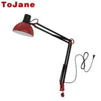 ToJane Настольная светодиодная гибкая лампа светильник с абажуром E27