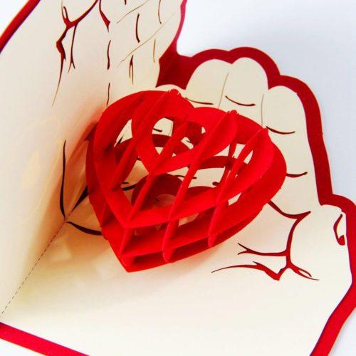 Объемные поздравительные 3D открытки на день Святого Валентина