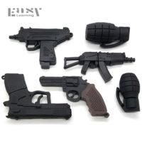 Черный USB флеш-накопитель флешка в виде оружия или фотоаппарата 4/8/16/32 ГБ