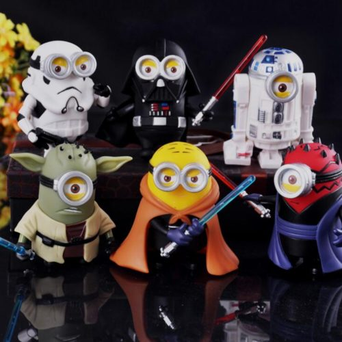 Миньоны фигурки игрушки Звездные войны (Star Wars) 10 см 6 шт.