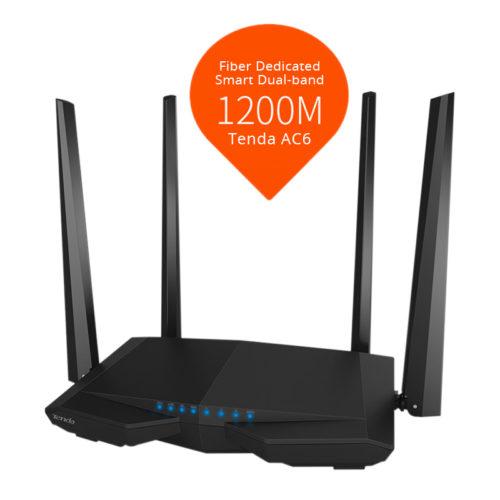 Tenda AC6 беспроводной Wi-Fi маршрутизатор роутер 1200 Мбит/с
