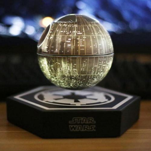 Левитирующая беспроводная bluetooth колонка динамик в виде звезды смерти из Звездных войн (Star Wars)