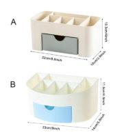 Пластиковый настольный органайзер для косметики с выдвижным ящиком