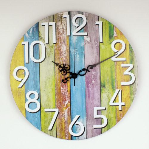 Настенные разноцветные часы 30 см