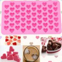 Силиконовая формочка молд Сердечки для желе, льда, шоколада, конфет