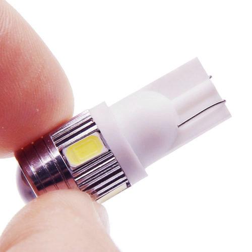 Лампы для подсветки салона, бокового освещения, для подсветки номеров 10 шт. T10 W5W