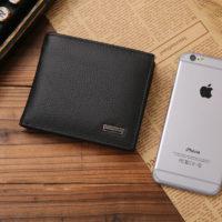 Мужской бумажник кошелек из натуральной кожи с отделением для монет
