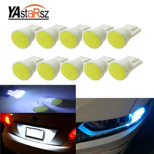 Светодиодные лампы для авто 10 шт./лот T10 194 168 W5W 6 COB