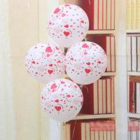 Воздушные шары 12″ с сердцами на день Святого Валентина 10 шт.