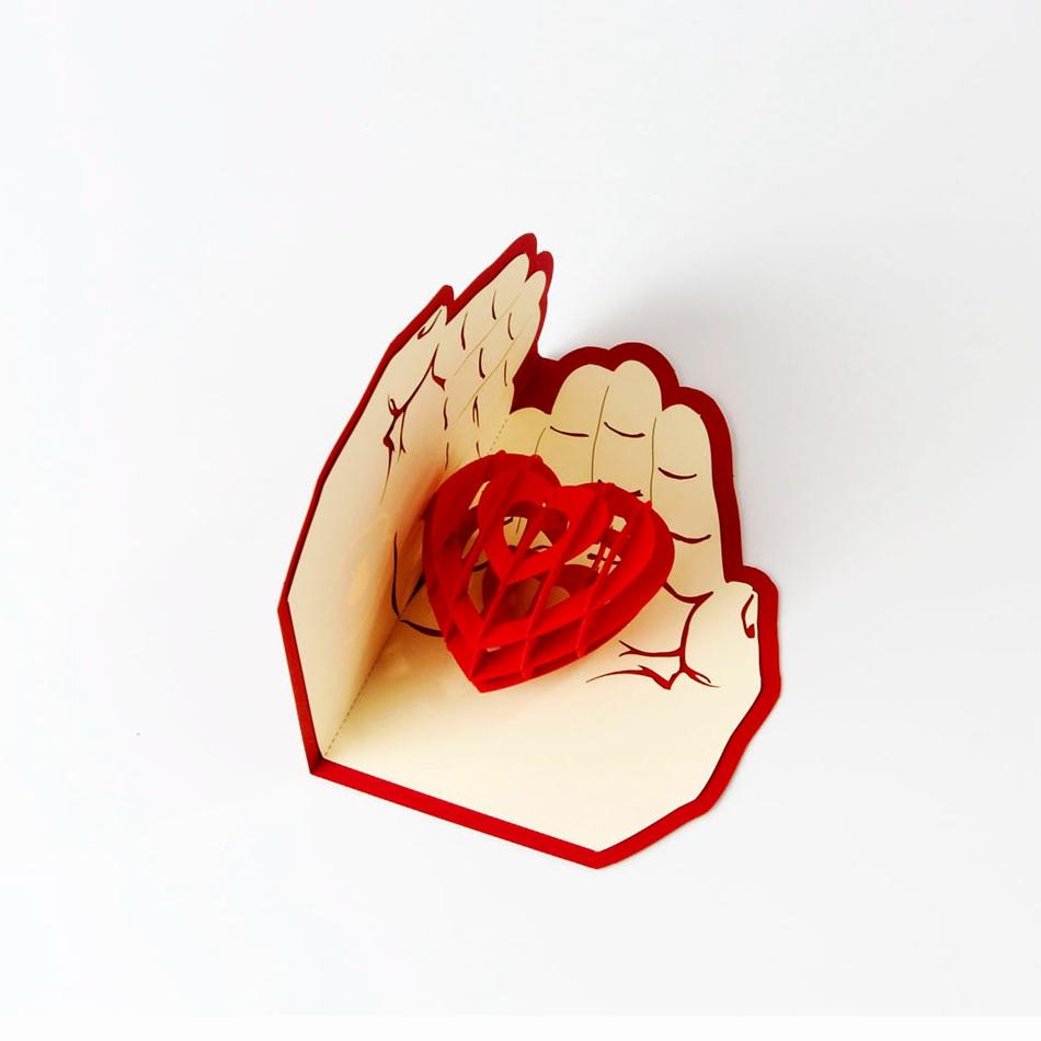 Картинки, 3 д открытка сердце