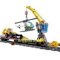 Lepin (Лепин) 02009 1033 шт. конструктор железная дорога и мощный грузовой поезд на пульте управления