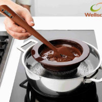 Силиконовая лопатка с термометром для шоколада