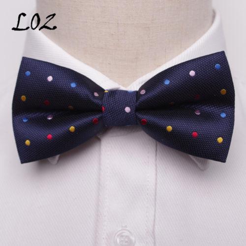 Мужская бабочка-галстук из полиэстера с узором 12х6 см