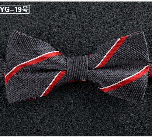 Мужская бабочка-галстук на свадьбу из полиэстера и шелка с узором 12х6 см