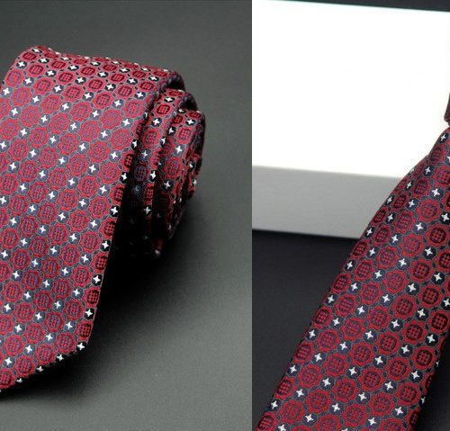 Мужской галстук из полиэстера с узором 6 см
