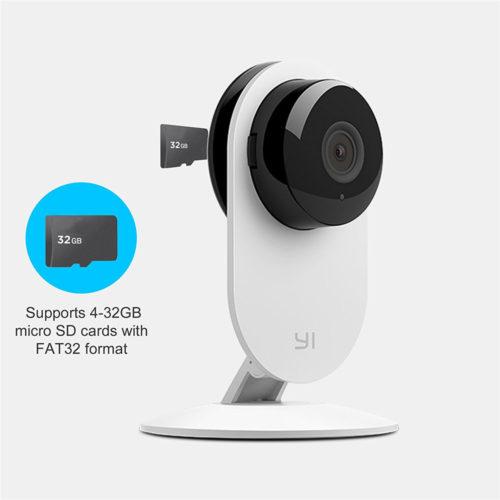 YI Home Camera Ip-камера видеонаблюдения 720 P 111° с функцией ночного видения