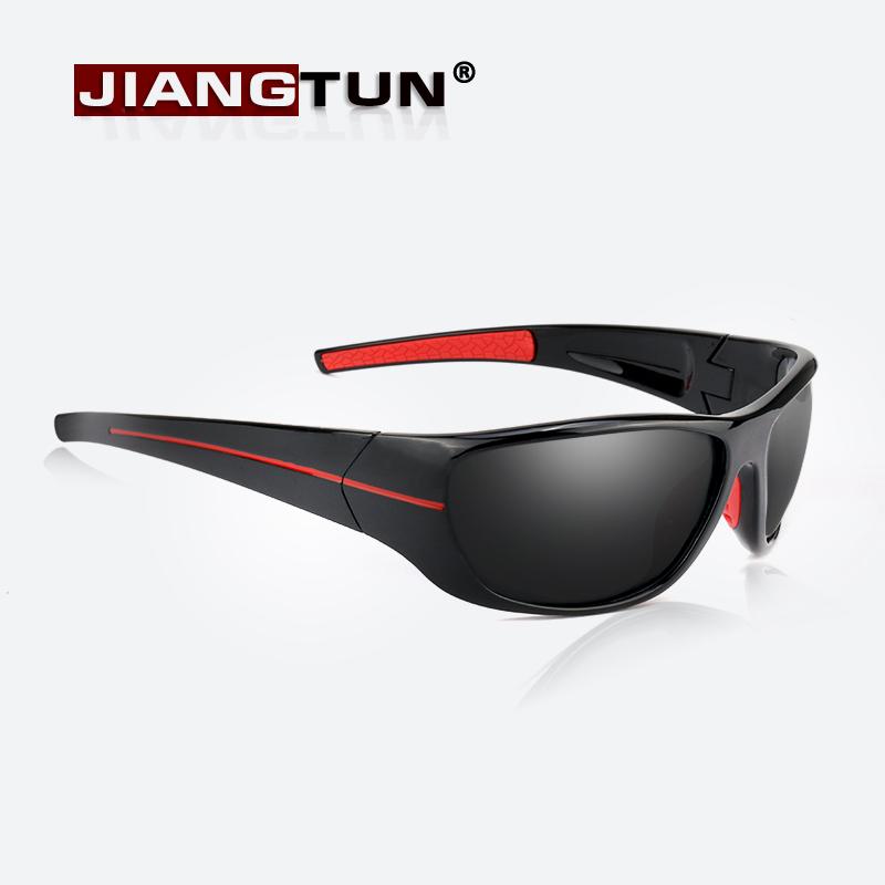 JIANGTUN Мужские солнцезащитные поляризованные очки с пластиковой оправой  для вождения d4e9712cb40