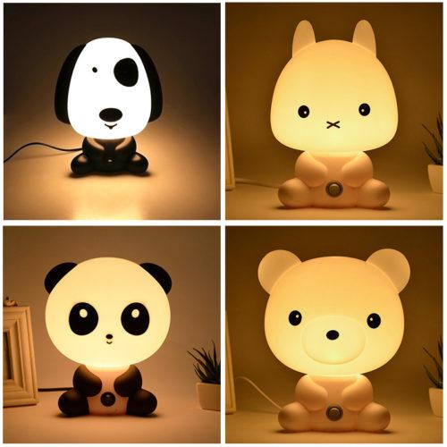 Детский LED лампа ночник в виде животных