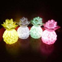 Мягкий силиконовый настольный ночник-лампа в виде ананаса