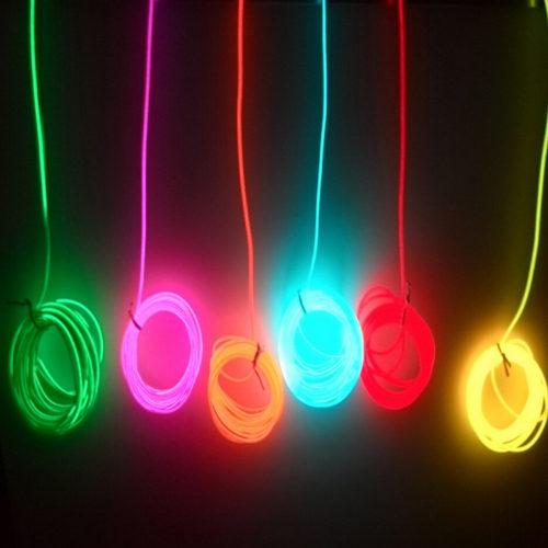 Неоновая гибкая светодиодная лента шнур для авто 2/3/5 м
