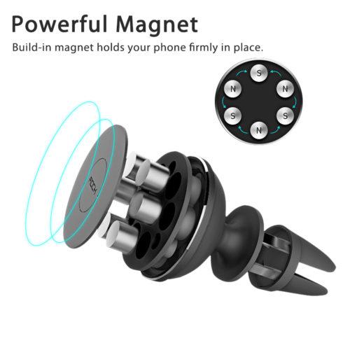 Магнитный универсальный держатель для телефона в автомобиль Rock 360 градусов