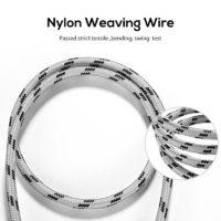 TOPK Металлический плетеный Usb кабель провод для зарядки
