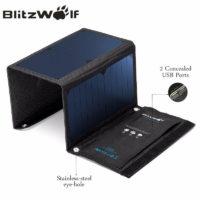 Blitzwolf Солнечное портативное зарядное устройство батарея 20 Вт