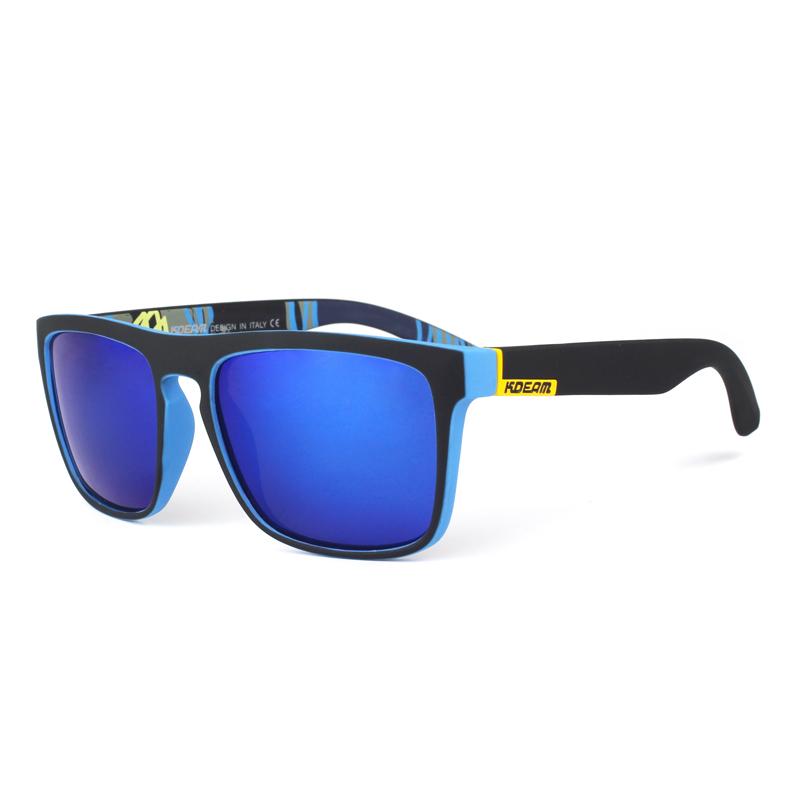 ... KDEAM Мужские классические солнцезащитные очки с оправой из ацетата и  зеркальными антибликовыми линзами eb0834c8c18