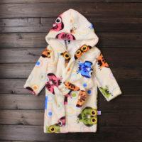 Недорогой детский махровый халат с капюшоном для девочки и мальчика